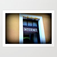 internet Art Prints featuring Internet by MartaJ