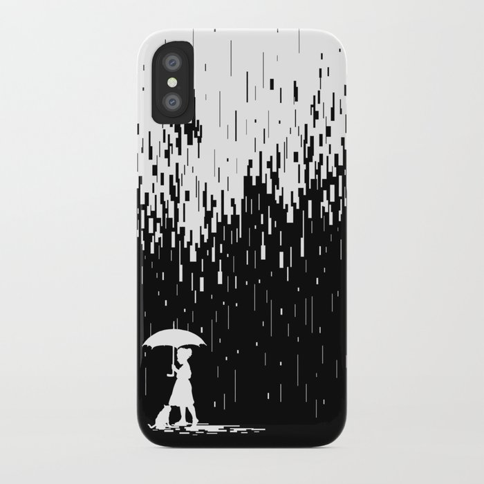 Pixel Rain iPhone Case