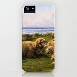 Sheep By The Sea - Digital Remastered Edition iPhone Case