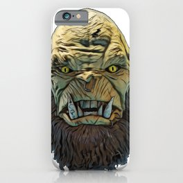 Ogre legendary monster large fairy tales legend infant iPhone Case
