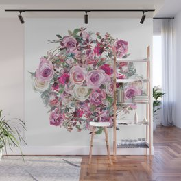 Bouquet of flowers - wreath Wall Mural
