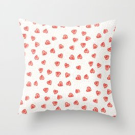 Sparkly hearts Throw Pillow