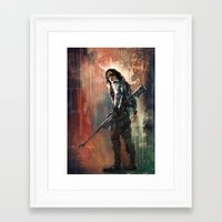bucky Framed Art Prints featuring Bucky by Wisesnail
