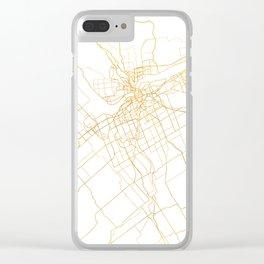 OTTAWA CANADA CITY STREET MAP ART Clear iPhone Case