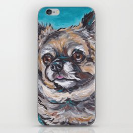 Cute Chihuahua Art, Colorful Dog Painting iPhone Skin