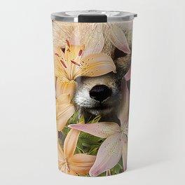 Foxy Flowers Travel Mug