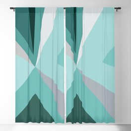 Mid Century Modern Abstract Turquoise Blackout Curtain