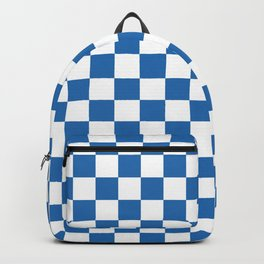 Gingham Azure Strong Blue Checked Pattern Backpack