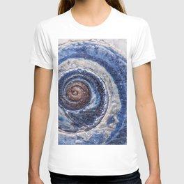 Blue spiral sea snail T-shirt