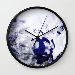 leaves impression Wall Clock