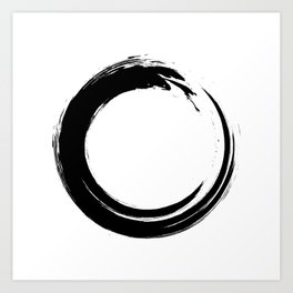 Black enso circle Art Print