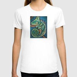 THE BEAST... punk rock chameleon T-shirt