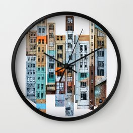 NEW-YORK PATCHWORK Wall Clock