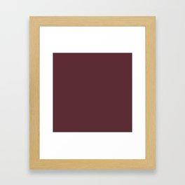 "Marsala burgundy ""Tawny Port"" pantone color Framed Art Print"