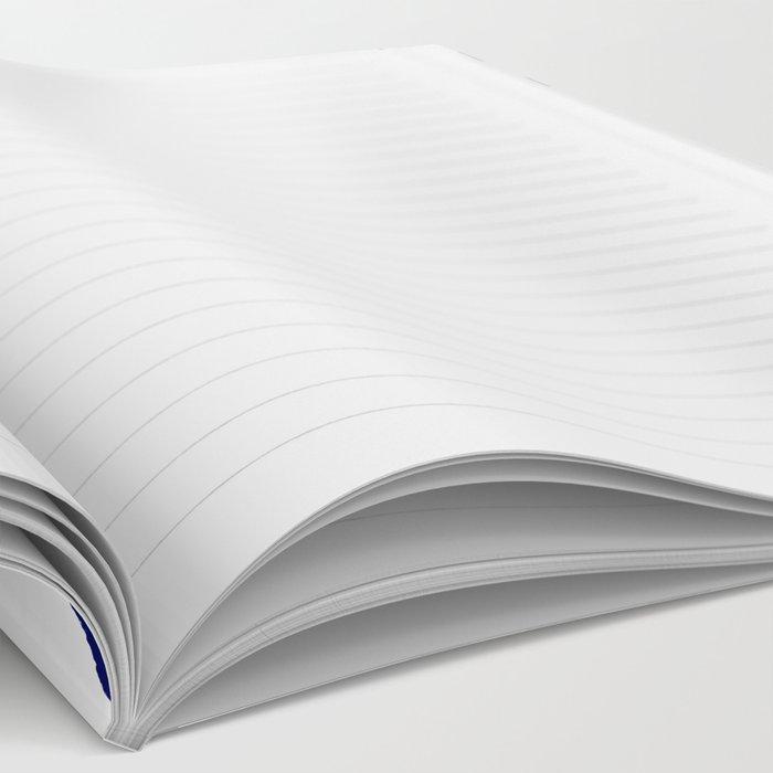 Mini dots painterly brushstrokes boho modern indigo blue and white preppy nautical dorm college art Notebook