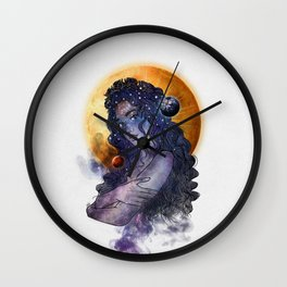 The queen of universe. Wall Clock