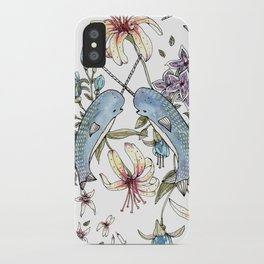 Narwhal pattern iPhone Case