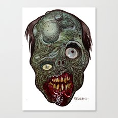 Heads of the Living Dead Zombies: Toxic Zombie Canvas Print