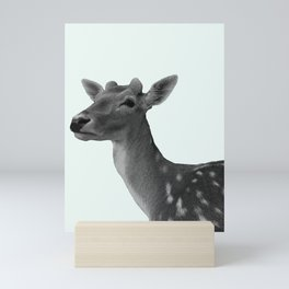 Deer on Mint Mini Art Print