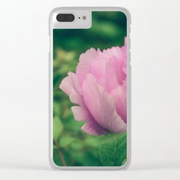 Peonia Clear iPhone Case
