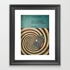 TEXTBOOK TIMELORD Framed Art Print