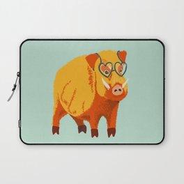Benevolent Funny Boar Pig Laptop Sleeve