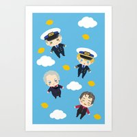 cabin pressure Art Prints featuring Cabin Pressure: The Lemon is With You by Le Bear Polar