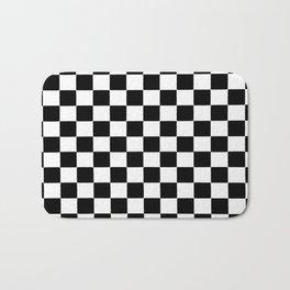 Checkered abstract background Bath Mat