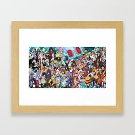 Anime All v4 Framed Art Print