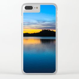Sunset at Stumpy Lake in Virginia Beach Clear iPhone Case