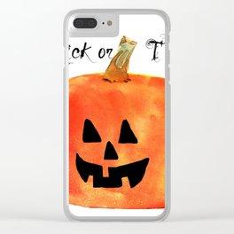 Trick or Treat Jack-O-Lantern, Halloween Pumpkin Clear iPhone Case