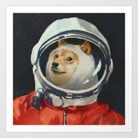 doge Art Prints featuring DOGE by Ilya Brovkin