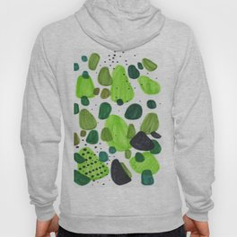 Minimalist Abstract Midcentury Modern Colorful Natural Green Organic Shapes Hoody