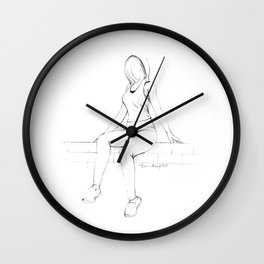 Girls on Wall - 1 Wall Clock
