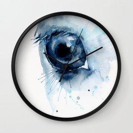 Watercolor Horse Eye Wall Clock