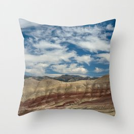 Colorful Painted Hills of Oregon Throw Pillow