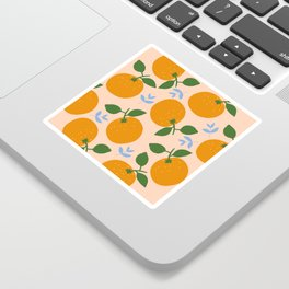 Oranges - gouache painting Sticker