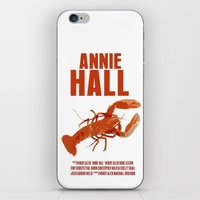 annie hall iPhone & iPod Skins featuring Annie Hall by FunnyFaceArt