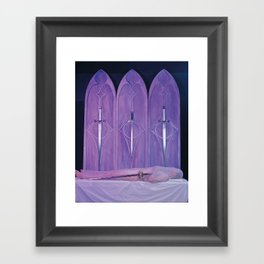 4 of Swords Framed Art Print