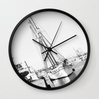 sailor Wall Clocks featuring Sailor by Miss chOc-l4te