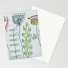 Summer flower meadow Stationery Cards