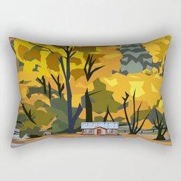 Golden Arrowtown Rectangular Pillow