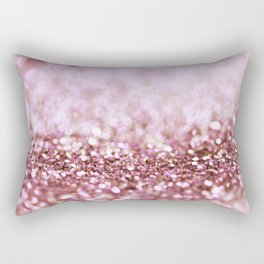 Pink Sparkle shiny glitter effect print - Sparkle Valentine Backdrop Rectangular Pillow