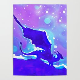 Moon Dragon Poster