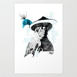 tewa girl 2 Art Print