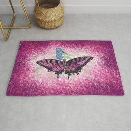 Pink Butterfly Darker Rug