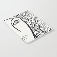 Black and white pop girl portrait Notebook