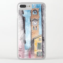 Lucca Clock Tower Clear iPhone Case