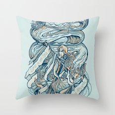 Life & Love at Sea Throw Pillow