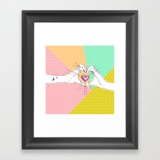 Heart Hands [Vintage Candy Edition] Framed Art Print
